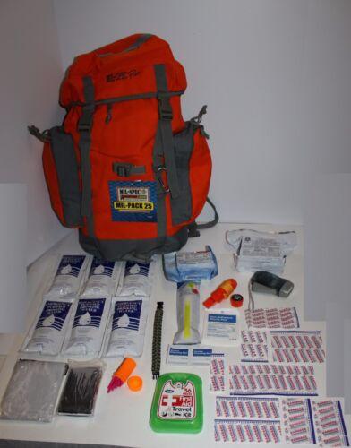 3 Day Backpack Disaster Emergency Survival Kit Bug Out Bag SHTF Food Water 72 hr