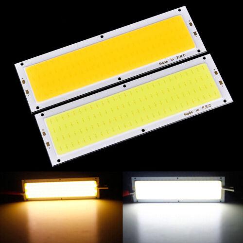Warm//Cool White 12V-24V 1000LM 10W COB LED Strip Light High Power Lamp Chip