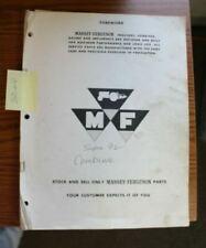 Massey Ferguson 92 Combine Service And Parts Manual
