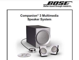 Bose Companion 3 Series I Multimedia Speaker System Service Manual Buch Englisch Ebay