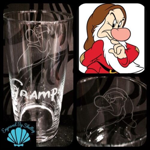 Personalised Disney Dumbo Elephant Tall High Glass Handmade FREE Name Engraved