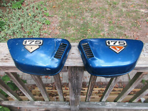 Vintage-Honda-175-Left-and-or-Right-Blue-Side-Cover