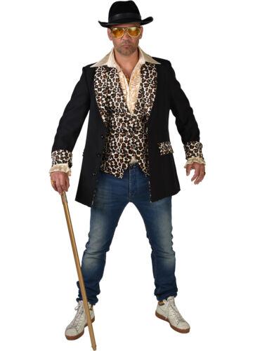 Teddy Boy XXL Rockabilly Showman JACKET Black Leopard Print XS