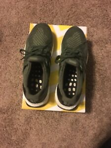 30178a6a5 Adidas Ultra Boost M 2.0 Olive Green Black White BB6055 Men s Size ...