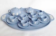Miniature Wedgwood Dancing Hours Teapot Milk Sugar Cups Tray - Wedgwood Teaset