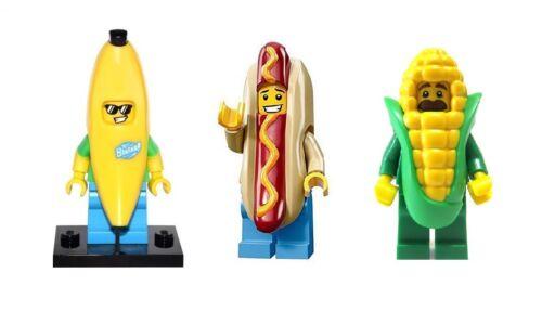 SEALED LEGO Series 13 16 17 Hotdog Banana Corn on Cob Guy Man Food Minifigures
