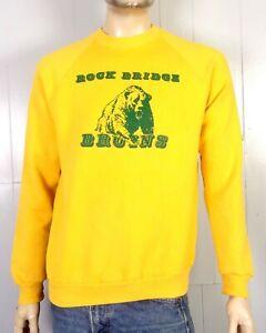 vtg-80s-retro-Flocked-Logo-Rock-Ridge-Bruins-Sweatshirt-Raglan-Sleeve-bear-XL