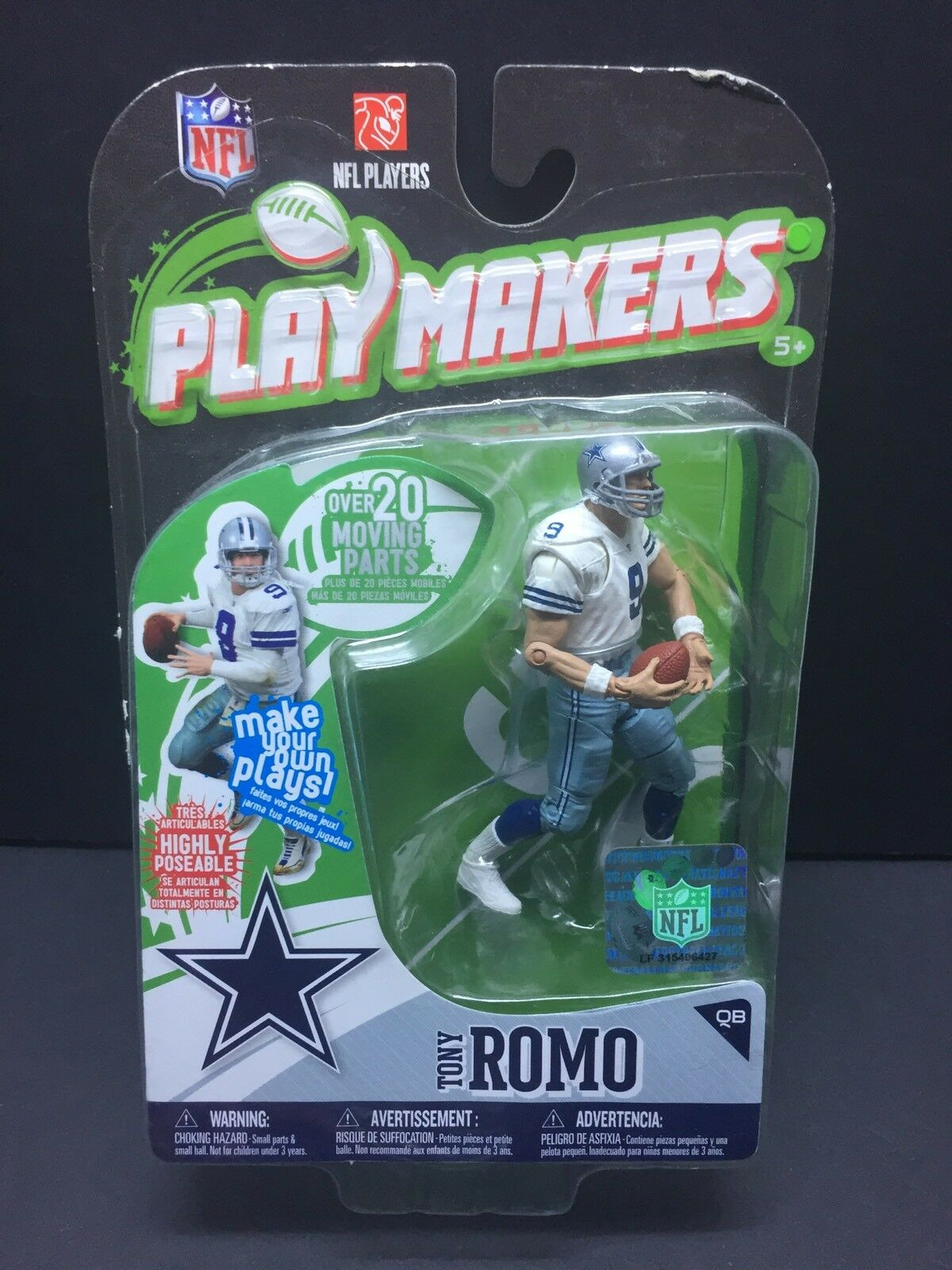 McFarlane NFL 2010 Playmakers Cowboys Tony Romo 4  Figure  Over 20 Moving Parts
