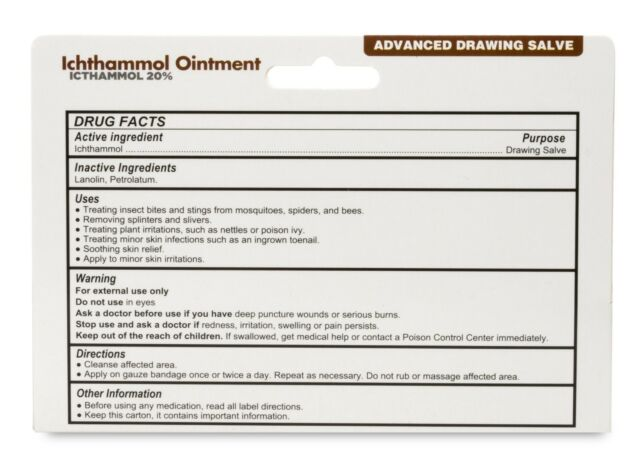 Ichthammol Ointment 20% 1oz Tube -Expiration Date 12-2021