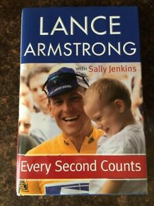 Lance-Armstrong-Signed-FIRST-EDITION-034-Every-Second-Counts-034-Hardcover-COA