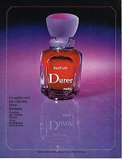 PUBLICITE ADVERTISING  1975   DURER   pafum