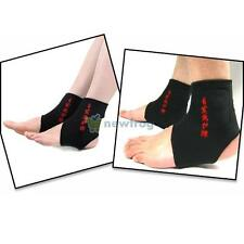 2x Magnetic Therapy Thermal Self-Heating Ankle Pad Ankle Support Brace Protector
