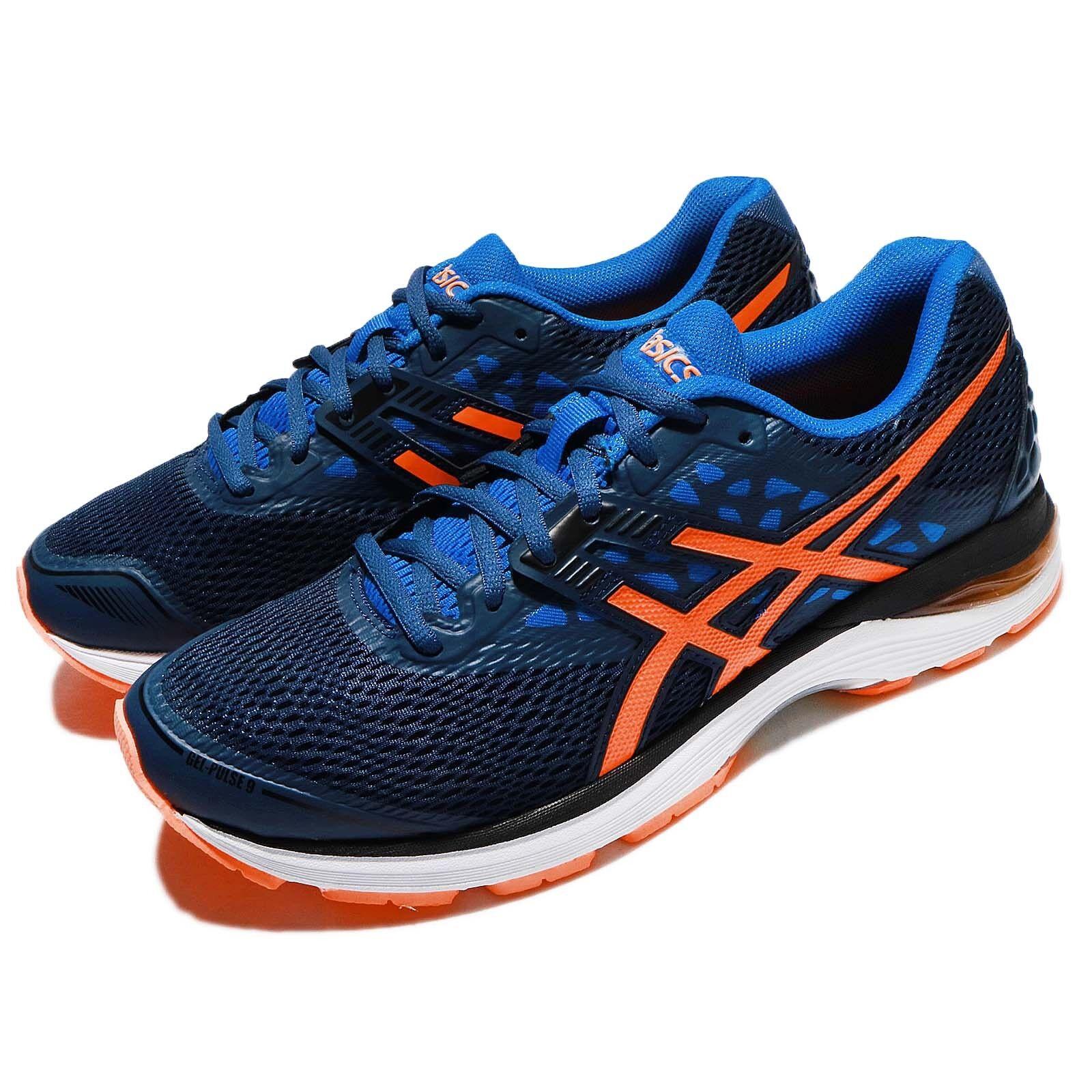 Asics Gel-Pulse 9 Dark blueee orange Men Running Athletic shoes Sneaker T7D3N-4930