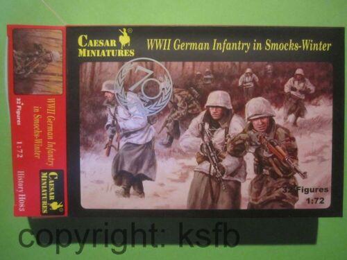 1:72 Caesar H083 Deutsche Soldaten in Winter Überjacke Mantel Landser Wehrmacht