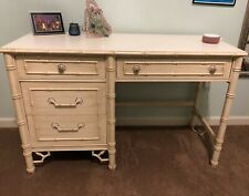 Vintage Thomasville Allegro Faux Bamboo Desk - Good Condition