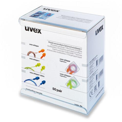 Uvex Mehrweggehörschutz stöpsel uvex whisper Gehörschutz Lärm  50er Pack