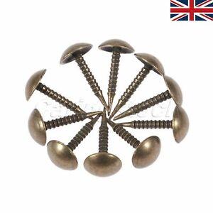 100pcs Antique Upholstery Nail Sofa Door Iron Studs Tacks Pins Hardware UK STOCK