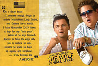 The Wolf Of Wall Street Poster Awesome + 1 Gratis Ü-poster