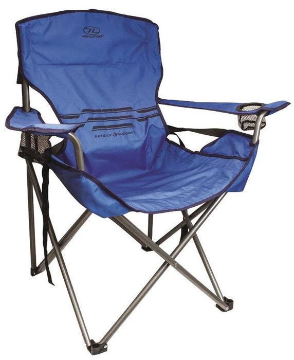 Silla turista Highlander apoyo lumbar silla plegable  pesCoche Cámping azul  barato en alta calidad