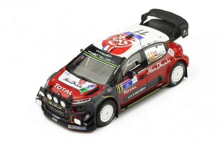 Citroen C3 WRC n°11 5ème Rallye du Mexique - 2018 - Loeb 1 43 Ixo