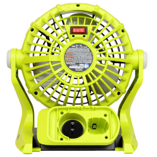 Dual Power Portable Hybrid Electric Fan New Ryobi P3320 120V AC or 18V ONE