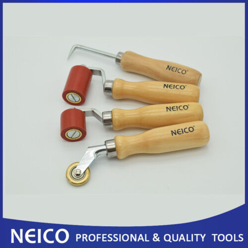 Seam Tester,Brass Penny Roller Set 4PCS Roofing Set Tools Silicone Roller