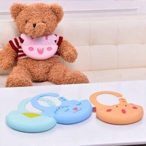 2-pcs-Baby-Bib-Feeding-Bib-Silicone-Waterproof-Easily-Wipes-Clean-Comfortable