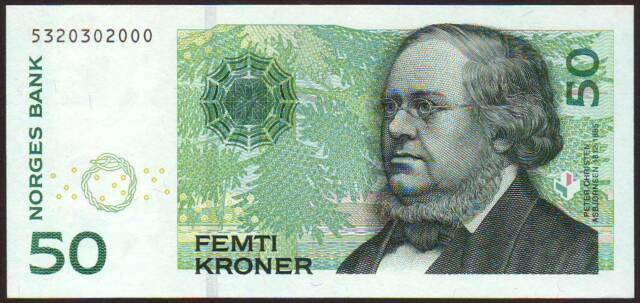 NORWAY   50 Kroner  1996    Gem UNC