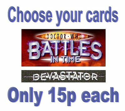 Doctor Who Devastator cards 826-1075 ONLY 15p EACH common rare battles in time