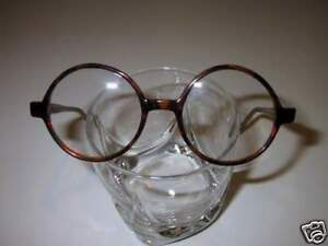 Vintage Style Eyeglasses Small Round Tortoise