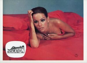 SEXY-CLAUDINE-AUGER-ESCALATION-1968-VINTAGE-LOBBY-CARD-1