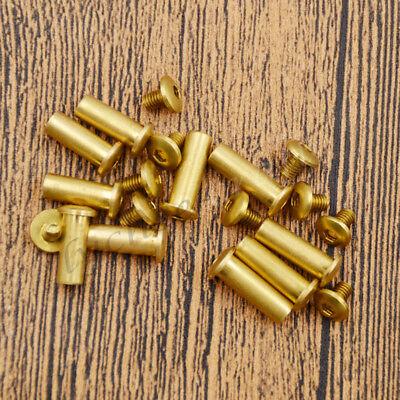 5pcs Brass Fillister Hexagon Head Bolt Screw Pins Knife