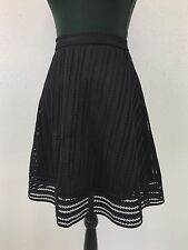 J Crew Skirt Black Eyelet Lace A Line Circle Formal 4