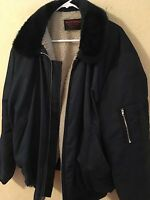 Wearguard Coat Insulated Snow Resistant Jacket Wool Lined Blue Mens Large Xl