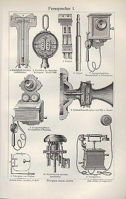 Kompetent Lithografie 1905: Fernsprecher I/ii. Von Siemens Bells Vielfachschaltschrank Fer Schnelle Farbe