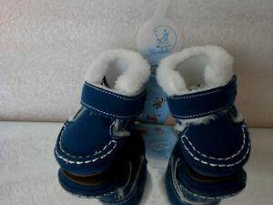 Sterntaler-Baby-Jungen-Schuh-Krabbelschuhe-gefuttert-Blau-Marine-300-Gr-15-16