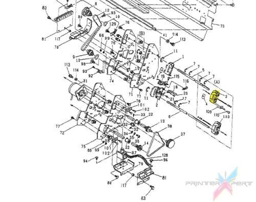 ASM FB27903-0 C.itoh 500E SQE Upper Right Citoh Citizen 500 1000 E Tractor #3