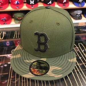 New-Era-Boston-Red-Sox-2017-Memorial-Day-Cappello-Aderente-Verde-Camo