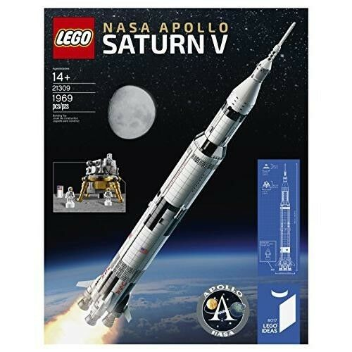 Lego Ideas 21309 Nasa 1969 Apollo Saturn V Space Rocket Launch