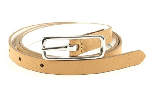 ESPRIT Reversible Slim Belt W95 Gürtel Accessoire White Weiß Beige Neu