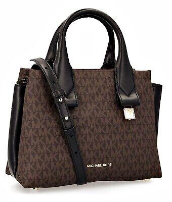 Michael Kors tasche rollins sm satchel braun schwarz neu | eBay