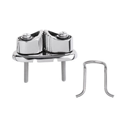 Heavy-Duty Fast Entry Rope Cam Cleat with Fairlead Stainless Steel Boat Hardware