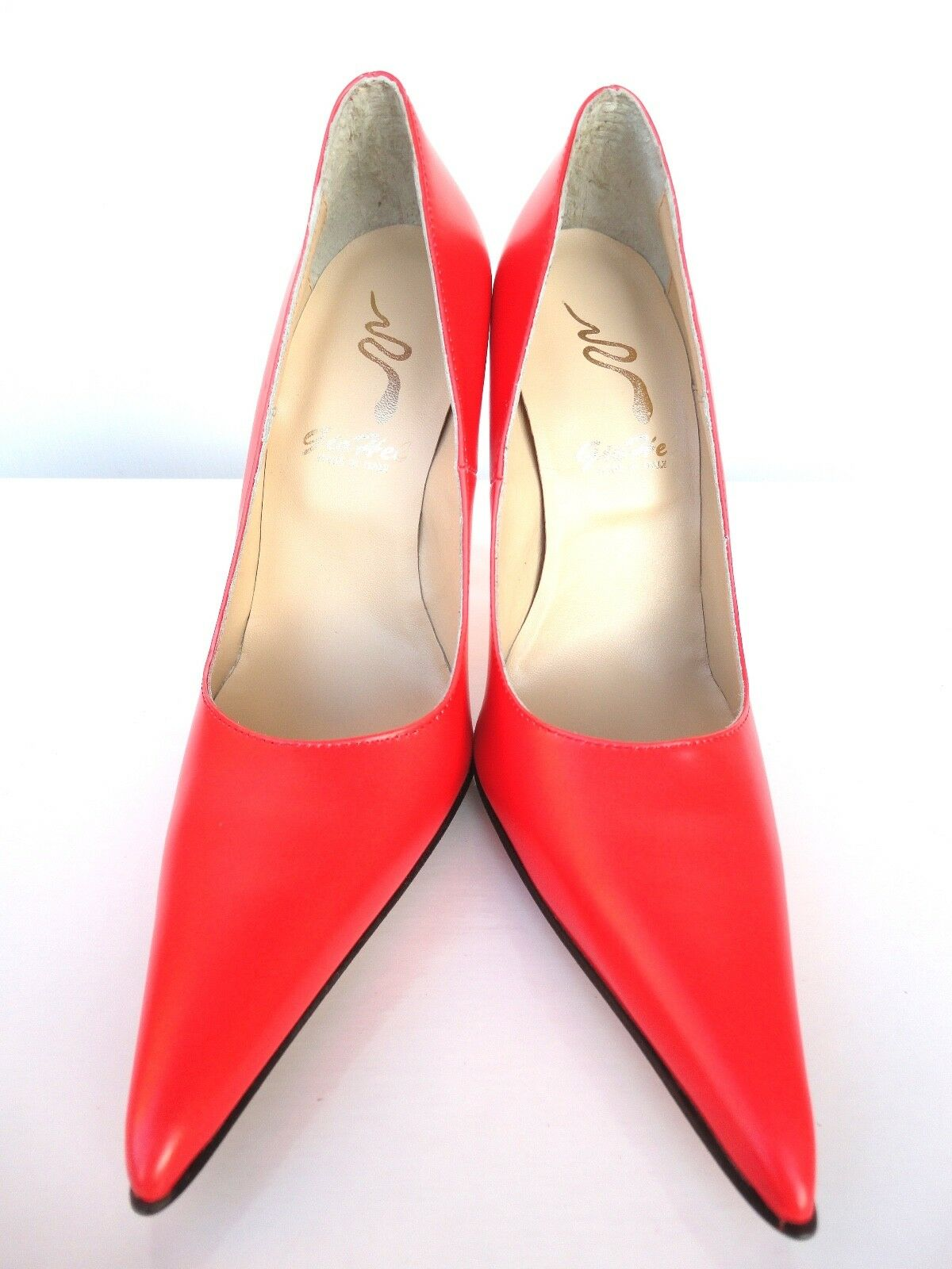 GIOHEL TOE ITALY HIGH HEELS POINTY TOE GIOHEL PUMPS SCHUHE LEATHER DECOLTE ROT ROT ROSSO 45 ed4e4a