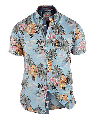 *NEW* Mens Big Size Duke D555 Cotton Hawaiian Shirt 3XL 4XL 5XL 6XL 7XL 8XL