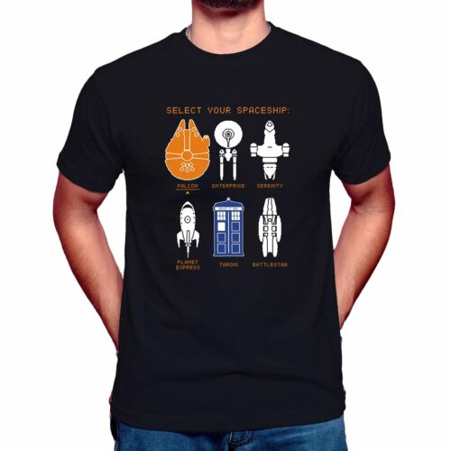 SpaceShip Timeline T-Shirt Inspired by Doctor Who Star Wars Star Trek Funny