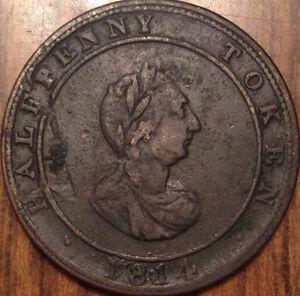 1814-NOVA-SCOTIA-HALIFAX-HOSTERMAN-HALF-PENNY-TOKEN-IN-GOOD-CONDITION