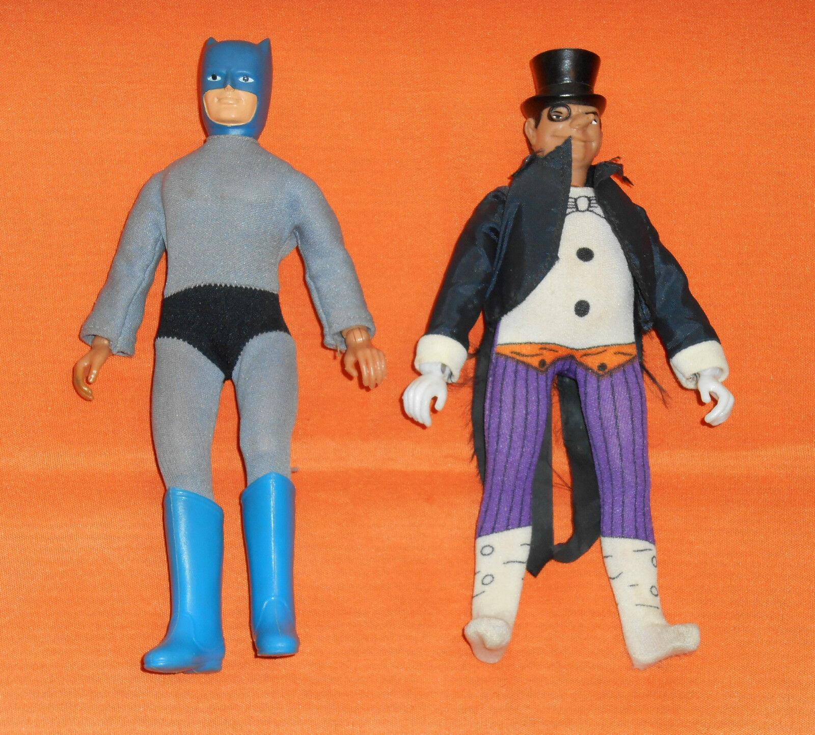 Vintage Mego WORLD'S GREATEST SUPER-HEROES WGSH 8  BATMAN & PENGUIN LOT