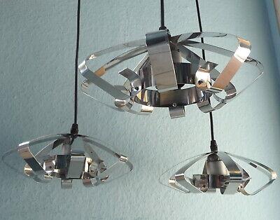 Gerade Lampe Kaskadenlampe Hängelampe Chrom Ufo 3 Schirme Panton Pop Art 60er 70er 70s SorgfäLtige Berechnung Und Strikte Budgetierung