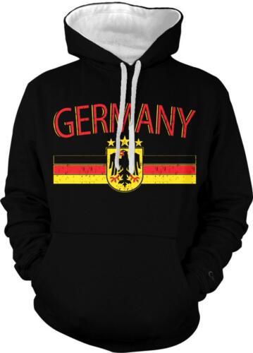 Germany Soccer Pride Bundesrepublik Deutschland Flag 2-tone Hoodie Pullover