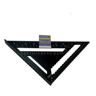 "12"" Heavy Duty Aluminium Speed Square Measuring Tool Roofing Triangle Joinery ne"